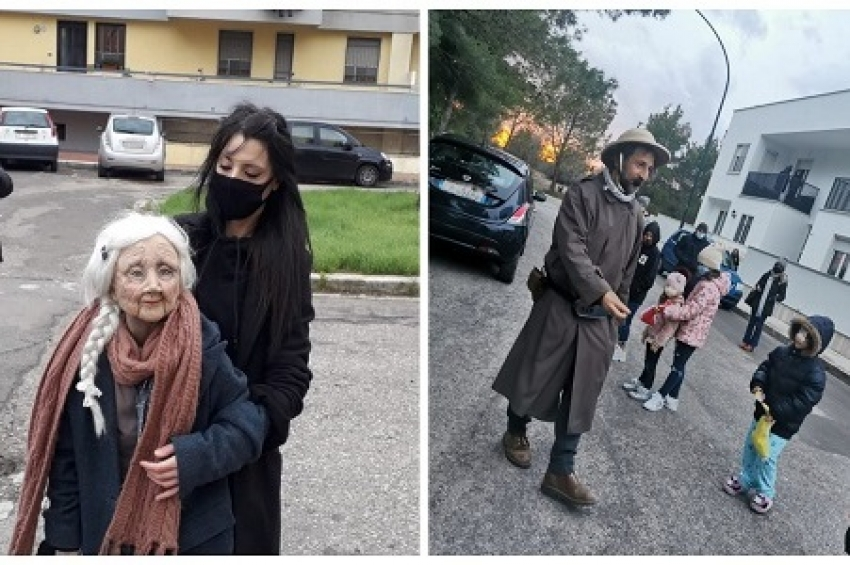 Barbonaggio teatrale delivery: il teatro itinerante per le strade di Campi Salentina