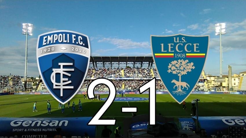 Il Lecce cade in casa della capolista Empoli, chiude al quarto posto