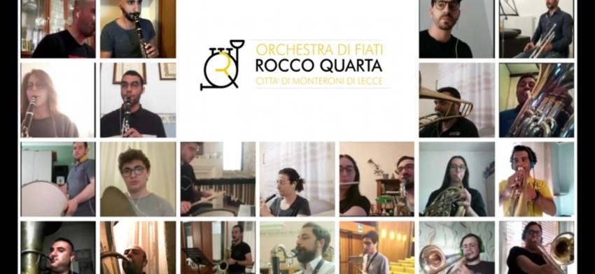"""Terzo compleanno per la banda """"Maestro Rocco Quarta"""". E l'orchestra suona in videochat"""