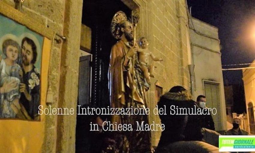 Squinzano. Traslazione in Chiesa Madre della statua di S. Giuseppe Patriarca